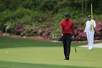 Tiger Woods (USA) on the 13th green during the final round at the The Masters , Augusta National, Augusta, Georgia, USA. 14/04/2019.<br /> Picture Fran Caffrey / Golffile.ie<br /> <br /> All photo usage must carry mandatory copyright credit (© Golffile | Fran Caffrey)