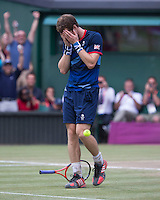 ..Tennis - OLympic Games -Olympic Tennis -  London 2012 -  Wimbledon - AELTC - The All England Club - London - Sunday 5th August  2012. .© AMN Images, 30, Cleveland Street, London, W1T 4JD.Tel - +44 20 7907 6387.mfrey@advantagemedianet.com.www.amnimages.photoshelter.com.www.advantagemedianet.com.www.tennishead.netAndy Murray ..Tennis - OLympic Games -Olympic Tennis -  London 2012 -  Wimbledon - AELTC - The All England Club - London - Sunday 5th August  2012. .© AMN Images, 30, Cleveland Street, London, W1T 4JD.Tel - +44 20 7907 6387.mfrey@advantagemedianet.com.www.amnimages.photoshelter.com.www.advantagemedianet.com.www.tennishead.net