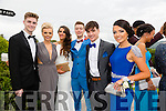 Pictured at the Presentation Tralee Debs ball at the Ballyroe Heights Hotel on Thursday, were, from l-r Jessie O'Sullivan, Mairead Dineen, Shannon Daly, Darragh Dineen, Gary Roche and Orla Keane