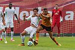 12.07.2017, Parkstadion, Zell am Ziller, AUT, TL Werder Bremen 2017 - FSP SV Werder Bremen (GER) vs Wolverhampton Wanderers (ENG)<br /> <br /> im Bild<br /> Thomas Delaney (Werder Bremen #6) im Duell / im Zweikampf mit Jordan GRAHAM (Wolverhampton Wanderers #11), <br /> <br /> Foto &copy; nordphoto / Ewert