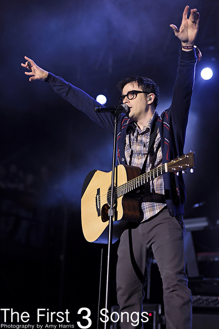 Rivers Cuomo of Weezer performs during the 2010 Voodoo Experience in New Orleans, Louisiana.