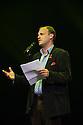 Anthony Alderson, Artistic Director of the Pleasance Theatre Trust, makes a speech to kick off the Festival Fringe season.