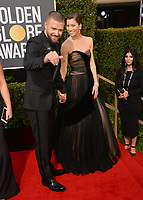Jessica Biel &amp; Justin Timberlake at the 75th Annual Golden Globe Awards at the Beverly Hilton Hotel, Beverly Hills, USA 07 Jan. 2018<br /> Picture: Paul Smith/Featureflash/SilverHub 0208 004 5359 sales@silverhubmedia.com