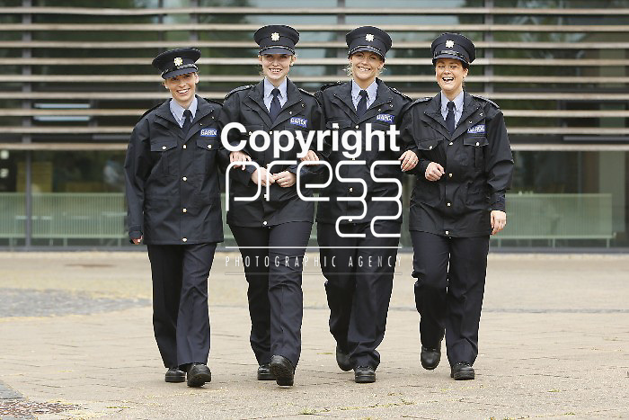 15/07/2013 Reserve Garda Graduates Linda Byrne, Abbeyleix, Amy Jenkins, Clondalkin, Martina Hellen, Clonakilty, and Elaine Power, Templogue pictured at a Garda Reserve Graduation Ceremony which took place at the Garda Training College, Templemore, Co. Tipperary. Picture: Don Moloney / Press 22