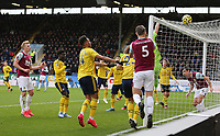 2nd February 2020; Turf Moor, Burnley, Lanchashire, England; English Premier League Football, Burnley versus Arsenal; Bernd Leno of Arsenal is forced to punch over the bar to clear the danger