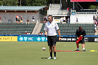 Cary, North Carolina  - Saturday June 03, 2017: Matt Briggs prior to a regular season National Women's Soccer League (NWSL) match between the North Carolina Courage and the FC Kansas City at Sahlen's Stadium at WakeMed Soccer Park. The Courage won the game 2-0.