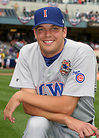 Iowa Cubs pitcher Rich Hill #35 during warmups before the Triple-A All-Star Game at Fifth Third Field on July 12, 2006 in Toledo, Ohio.  (Mike Janes/Four Seam Images)