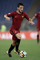 Calcio, Serie A: Roma, stadio Olimpico, 14 ottobre 2017.<br /> Roma's Alessandro Florenzi in action during the Italian Serie A football match between Roma and Napoli at Rome's Olympic stadium, October14, 2017.<br /> UPDATE IMAGES PRESS/Isabella Bonotto