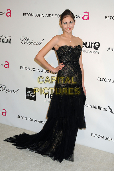 Willa Holland.21st Annual Elton John Academy Awards Viewing Party held at West Hollywood Park, West Hollywood, California, USA..February 24th, 2013.oscars full length dress hand on hip black lace strapless shee.CAP/ADM/BP.©Byron Purvis/AdMedia/Capital Pictures.