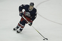 08 February 2006: Columbus Blue Jackets' Rostoslav Klesla plays against the Los Angeles Kings at Nationwide Arena in Columbus, Ohio.<br />