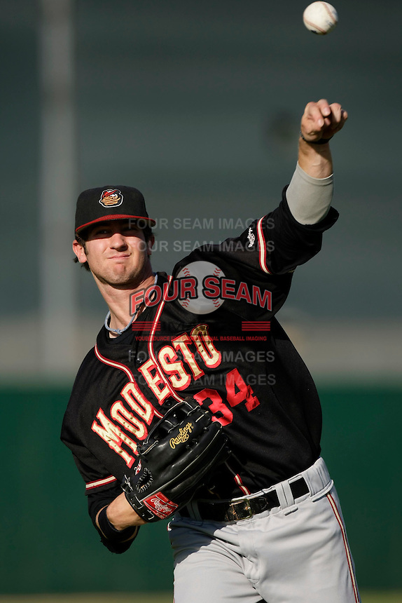 May 31 2009: Charlie Blackmon of the Modesto Nuts before game against the Lancaster JetHawks at Clear Channel Stadium in Lancaster,CA.  Photo by Larry Goren/Four Seam Images