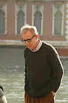 Woody Allen at the Gritti Hotel in.Venice, Italy..December 15, 2004.© Walter McBride /