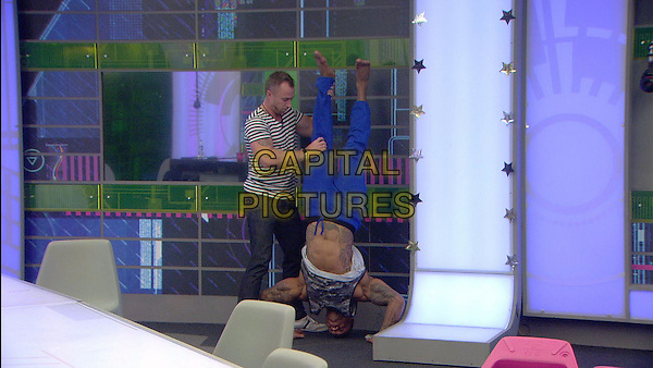 James Jordan and George Gilbey<br /> in Celebrity Big Brother - Summer 2014 (Day 8)<br /> *Editorial Use Only*<br /> CAP/NFS<br /> Image supplied by Capital Pictures