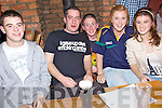 Having a great time at  the pub quiz in aid of Timothy O'Brien from Kilmoyley who is in Beaumont Hospital held in An Tocher Ban on Friday night were l/r Tommy Maunsell, Tim Claffey, Mike Kennedy, Laura Collins and Nicola O'Mahony.