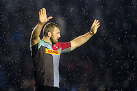 Chris Robshaw of Harlequins acknowledges the crowd after the match. European Rugby Challenge Cup semi final, between Harlequins and Grenoble on April 22, 2016 at the Twickenham Stoop in London, England. Photo by: Patrick Khachfe / JMP