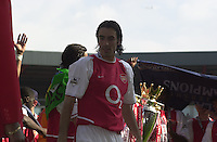 Premiership Football - Arsenal v Leicester City:.2003/04 Season - 15/05/2004  [Record breaking Season undefeated] .Robert Pires.[Credit] Peter Spurrier Intersport Images