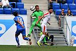 11.08.2018, Wirsol-Rhein-Neckar-Arena, Sinsheim, GER, Testspiel, TSG 1899 Hoffenheim vs SD Eibar, <br /> <br /> DFL REGULATIONS PROHIBIT ANY USE OF PHOTOGRAPHS AS IMAGE SEQUENCES AND/OR QUASI-VIDEO.<br /> <br /> im Bild: Yoel Rodriguez  (SD Eibar #1) und Jordi Calavera (SD Eibar #2) gegen Nico Schulz (TSG 1899 Hoffenheim #16)<br /> <br /> Foto © nordphoto / Fabisch