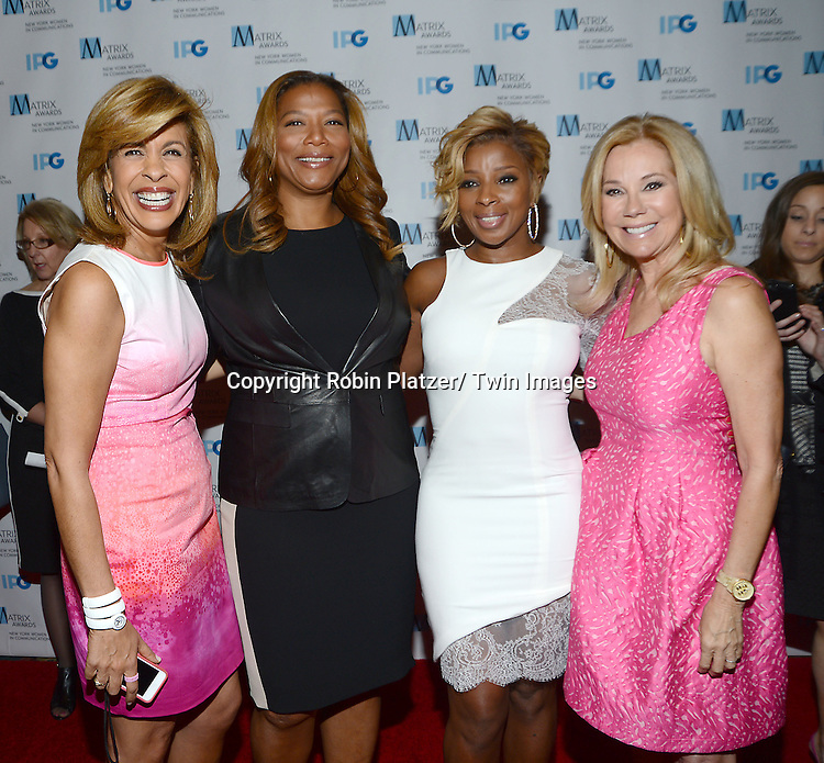Hoda Kotb, Queen Latifah, Mary J Blige and Kathie Lee Gifford attends the 2014 Matrix Awards on April 28, 2014 at the Waldorf Astoria Hotel in New York City, NY, USA