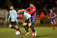 Lewis Kinsella of Aldershot Town and Corey Whitely of Dagenham  during Dagenham & Redbridge vs Aldershot Town, Vanarama National League Football at the Chigwell Construction Stadium on 10th February 2018