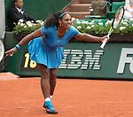Serena Williams (USA) defeated Teliana Pereira (BRA) 6-2 in the first set