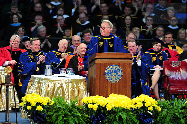 Martin Sheen is awarded the Laetare Medal at Commencement 2008...Photo by Matt Cashore/University of Notre Dame