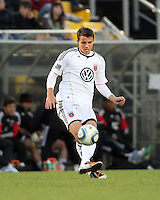 Mark Burch#4 of D.C. United during the final round of the Carolina Challenge Cup against Toronto FC on March 12 2011 at Blackbaud Stadium in Charleston, South Carolina. D.C. The game ended in a 2-2 tie which was sufficient for D.C. United to win the tournament.