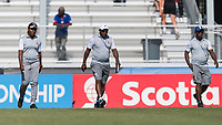 Bradenton, FL - Sunday, June 10, 2018: Fiorda Charles, Haiti coaching staff during a U-17 Women's Championship match between the United States and Haiti at IMG Academy.  USA defeated Haiti 3-2 to advance to the finals.