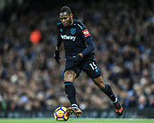 3rd December 2017, Etihad Stadium, Manchester, England; EPL Premier League football, Manchester City versus West Ham United; Diafra Sakho of West Ham makes a run