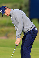 Thomas Pieters (BEL) takes his putt on the 14th green during Thursday's Round 1 of the 145th Open Championship held at Royal Troon Golf Club, Troon, Ayreshire, Scotland. 14th July 2016.<br /> Picture: Eoin Clarke | Golffile<br /> <br /> <br /> All photos usage must carry mandatory copyright credit (&copy; Golffile | Eoin Clarke)