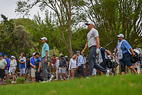 Kevin Kisner (USA) and Alex Noren (SWE) depart the 3rd tee  during day 5 of the World Golf Championships, Dell Match Play, Austin Country Club, Austin, Texas. 3/25/2018.<br /> Picture: Golffile | Ken Murray<br /> <br /> <br /> All photo usage must carry mandatory copyright credit (&copy; Golffile | Ken Murray)