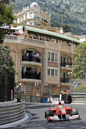 16/05/2010 Formula one GP Monaco Monte Carlo, Felipe Massa in Ferrari races around the street circuit.