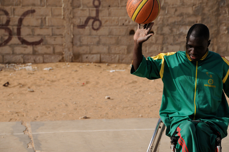 Dakar, Senegal (2008) - Ibrahima Faye practices at the Talibou Dabo Center courts in Dakar, Senegal. In April 2008, they prepared for the beginning of their ninth tournament, with hopes of putting an eighth championship under their belts, though Faye also dreamed of playing basketball in Europe.