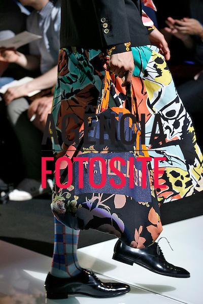 Milao, Italia &ndash; 06/2014 - Desfile de Vivienne Westwood durante a Semana de moda masculina de Milao - Verao 2015. <br /> Foto: FOTOSITE