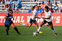 Kansas City, MO - Sunday September 3, 2017: Desiree Scott, Kelley O'Hara, Maya Hayes during a regular season National Women's Soccer League (NWSL) match between FC Kansas City and Sky Blue FC at Children's Mercy Victory Field.