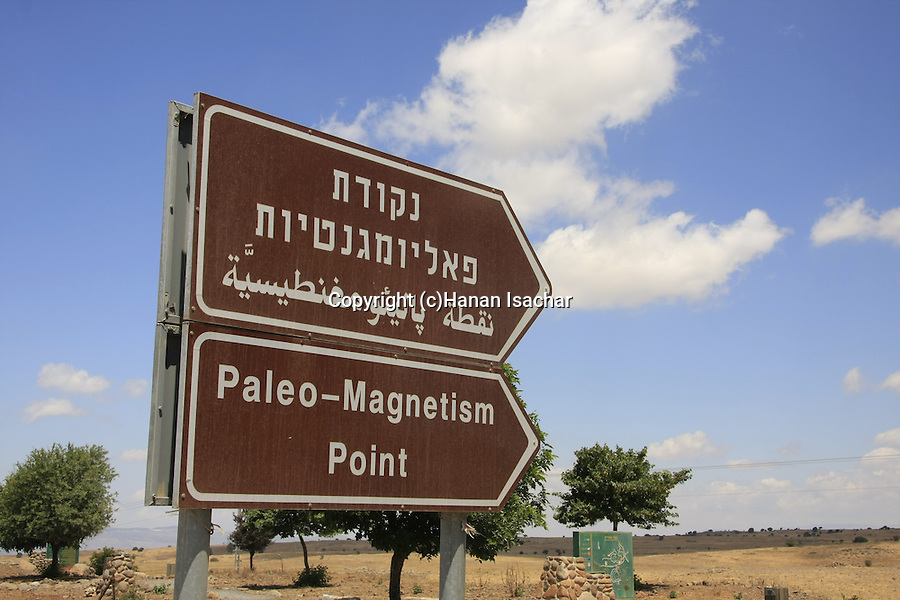 The Paleomagnetism Point in the Golan Heights
