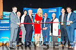 Castleisland Enterprise Town Expo was officially opened by RTÉ broadcaster and Journalist Miriam O'Callaghan on Friday at the Castleisland Community Centre. Pictured l-r James Kelliher, Donal O'Connor, Liz Galway, Paddy Garvey, Miriam O'Callaghan, Denis O'Donovan, Jill Hannon, Bill Costello and Mark McElligott