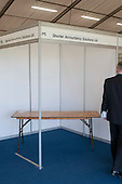 Empty stand, Kent2020Vision show, County Showground, Kent.