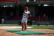 Brandon Yarbrough. The 2010 Carolina Mudcats during a practice at Five County Stadium in Zebulon, North Carolina, April 6, 2010.