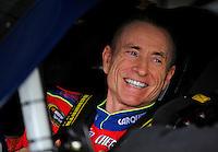 Oct. 3, 2009; Kansas City, KS, USA; Nascar Sprint Cup Series driver Mark Martin during practice for the Price Chopper 400 at Kansas Speedway. Mandatory Credit: Mark J. Rebilas-