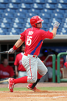 Philadelphia Phillies catcher Cameron Rupp #35 during an Instructional League game against the  Detroit Tigers at Bright House Networks Field on October 10, 2011 in Clearwater, Florida.  (Mike Janes/Four Seam Images)