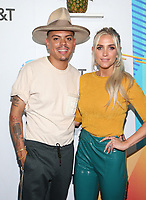 LOS ANGELES, CA - JUNE 2: Evan Ross and Ashlee Simpson at iHeartRadio Wango Tango by AT&amp;T at Banc of California Stadium in Los Angeles, California on June 2, 2018. <br /> CAP/MPI/FS<br /> &copy;FS/MPI/Capital Pictures