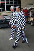May 28th Indianapolis Speedway, Indiana, USA; The 101st Indianapolis 500 on May 28th, 2017 at the Indianapolis Motor Speedway in Indianapolis, IN.  Fans in chequered flag suits