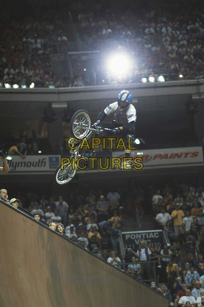 DAVE MIRRA.flies high during the Men's Bike Stunt Vert competition at the 2001 X Games as seen in Ultimate X.Filmstill - Editorial Use Only.Ref: FB.www.capitalpictures.com.sales@capitalpictures.com.Supplied by Capital Pictures