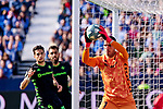 Joel Robles of Betis Balompie during La Liga match between CD Leganes and Real Betis Balompie at Butarque Stadium in Leganes, Spain. February 16, 2020. (ALTERPHOTOS/A. Perez Meca)