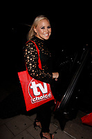 LONDON, ENGLAND - SEPTEMBER 10 :  Amy Walsh leaves the TV Choice Awards 2018, at The Dorchester hotel, on September 10, 2018 in London, England.<br /> CAP/AH<br /> &copy;AH/Capital Pictures