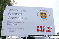 General view of the main sign ahead of Surrey CCC vs Essex CCC, Specsavers County Championship Division 1 Cricket at Guildford CC, The Sports Ground on 9th June 2017