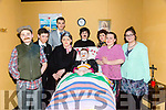 """Students from Coláiste na Riochta, Listowel with their production  of  """"A Wake in the West"""" at St John's Theatre Listowel on Thursday Pictured cast  Dara Mullville, Donal Kelly, Michael Hennessy, Damien McDonagh, Aaron Broderick, Tara Downey, John McCarthy, Emilia Girasole"""