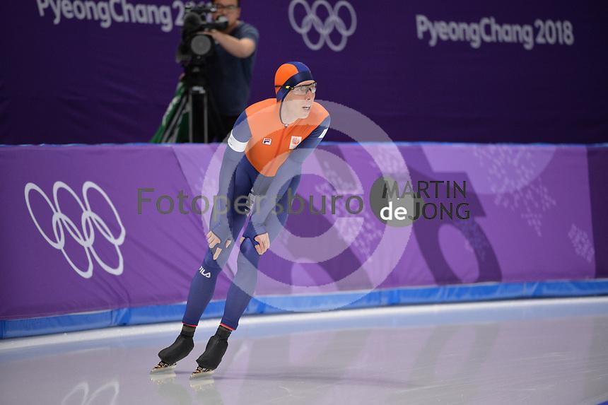 OLYMPIC GAMES: PYEONGCHANG: 15-02-2018, Gangneung Oval, Long Track, 10.000m Men, Jorrit Bergsma (NED), ©photo Martin de Jong