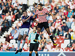 Paul Coutts of Sheffield Utd challenges Sunderland's Jack Rodwell during the Championship match at the Stadium of Light, Sunderland. Picture date 9th September 2017. Picture credit should read: Simon Bellis/Sportimage