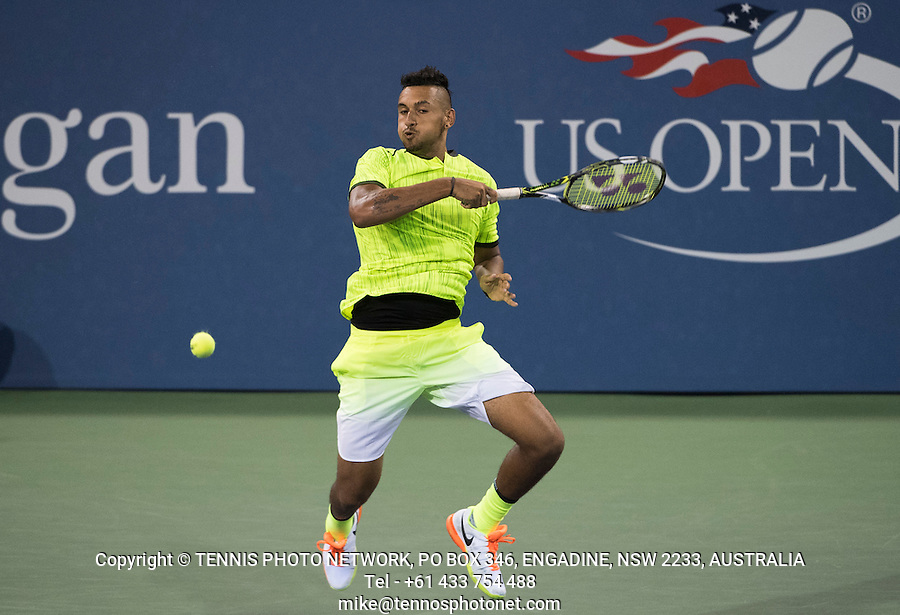 NICK KYRGIOS (AUS)<br /> <br /> TENNIS - THE US OPEN - FLUSHING MEADOWS - NEW YORK - ATP - WTA - ITF - GRAND SLAM - OPEN - NEW YORK - USA - 2016  <br /> <br /> <br /> <br /> &copy; TENNIS PHOTO NETWORK